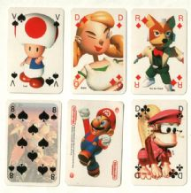 Collectable playing cards. Nintendo magazine super Mario